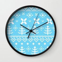 Premium folk design blue Wall Clock