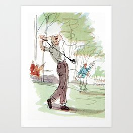 Are You Looking At My Putt? Vintage Golf Art Print