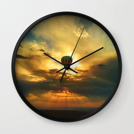Balloon in the Sky Wall Clock