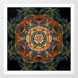 The Sri Yantra - Sacred Geometry Art Print
