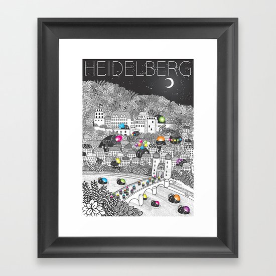 Locals Only - Heidelberg, Germany Framed Art Print