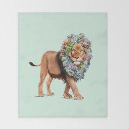SUCCULENT LION Throw Blanket