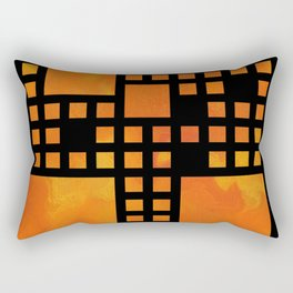 Visopolis V1 - orange flames Rectangular Pillow