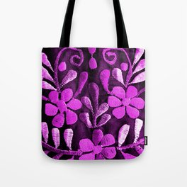 Violet Mexican Flowers Tote Bag