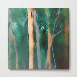 Misty Eucalypt Forest Metal Print