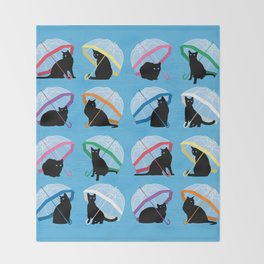 raining cats 'n cats Throw Blanket