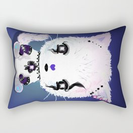 Punky Persian - Dark Blue Rectangular Pillow