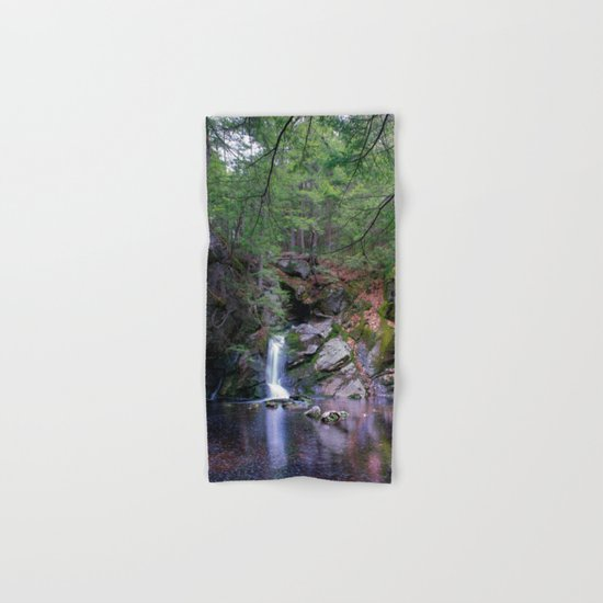 Purgatory Falls NH in May Hand & Bath Towel