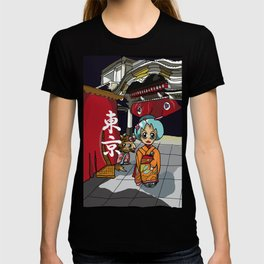 Kimono lady at the theatre in Ginza Tokyo T-shirt