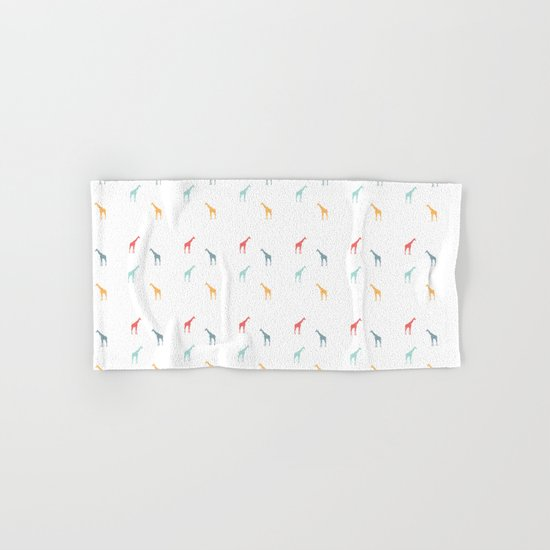 Giraffe Pattern Hand & Bath Towel