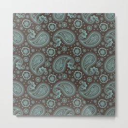 Indian Traditional paisley pattern Metal Print