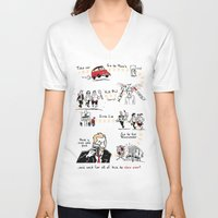 shaun of the dead V-neck T-shirts featuring Shaun of the Dead by Rob O'Connor