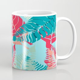 Leave Me Layered (Aqua Red) Coffee Mug