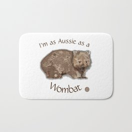 Aussie Wombat Design by Chrissy Wild Bath Mat