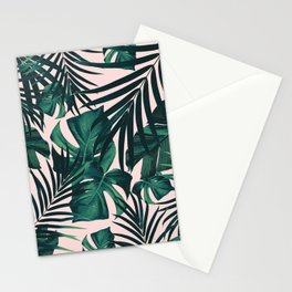 Tropical Jungle Leaves Pattern #5 #tropical #decor #art #society6 Stationery Cards