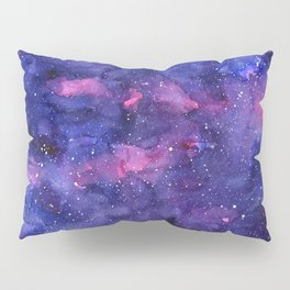 Galaxy Pattern Watercolor Pillow Sham