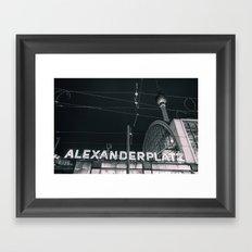 Alexander Platz Framed Art Print