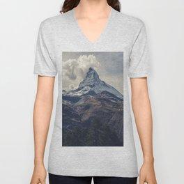 Distant Mountain Peak Unisex V-Neck