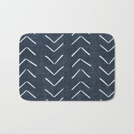 Mud Cloth Big Arrows in Navy Bath Mat