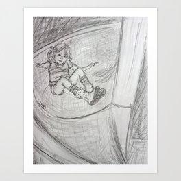 Spiral Slide Swirl Drawing Art Print