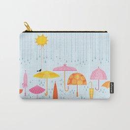 Pretty Parasols for Precipitation LineUp Carry-All Pouch