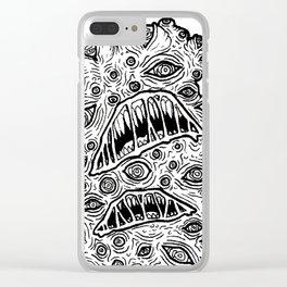 B&W Weirdo: Eyebomination Clear iPhone Case