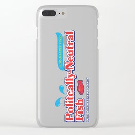 Politically Neutral Fish Clear iPhone Case