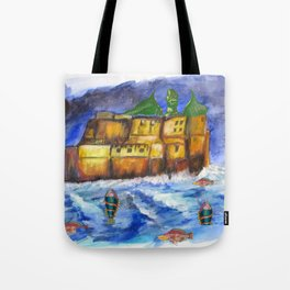Stormy Castle Infested Tote Bag