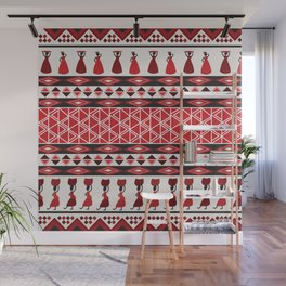 African Tribal Pattern No. 85 Wall Mural