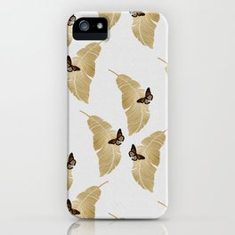 Butterfly & Palm iPhone Case