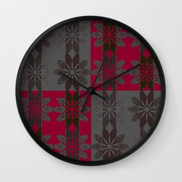 Flower Pattern13 Wall Clock