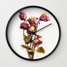 The old Roses Wall Clock