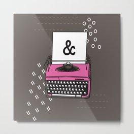 Vintage Typewriter Valentine Ampersand Metal Print