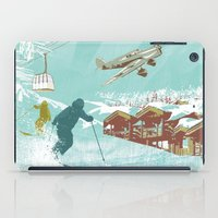 ski iPad Cases featuring ski lift by michael cheung