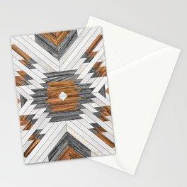 Urban Tribal Pattern 8 - Aztec - Wood Stationery Cards