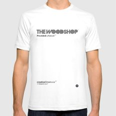 The Woodshop Mens Fitted Tee SMALL White