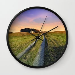 Picturesque indian summer scenery | landscape photography Wall Clock