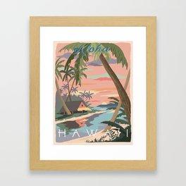 Aloha Hawaii Travel Poster Framed Art Print