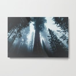 General Sherman in the Mist Metal Print