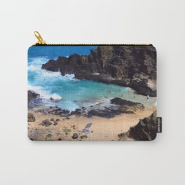 """Forbidden, """"NO TRESPASSING"""" Beach in Oahu, Hawaii Carry-All Pouch"""