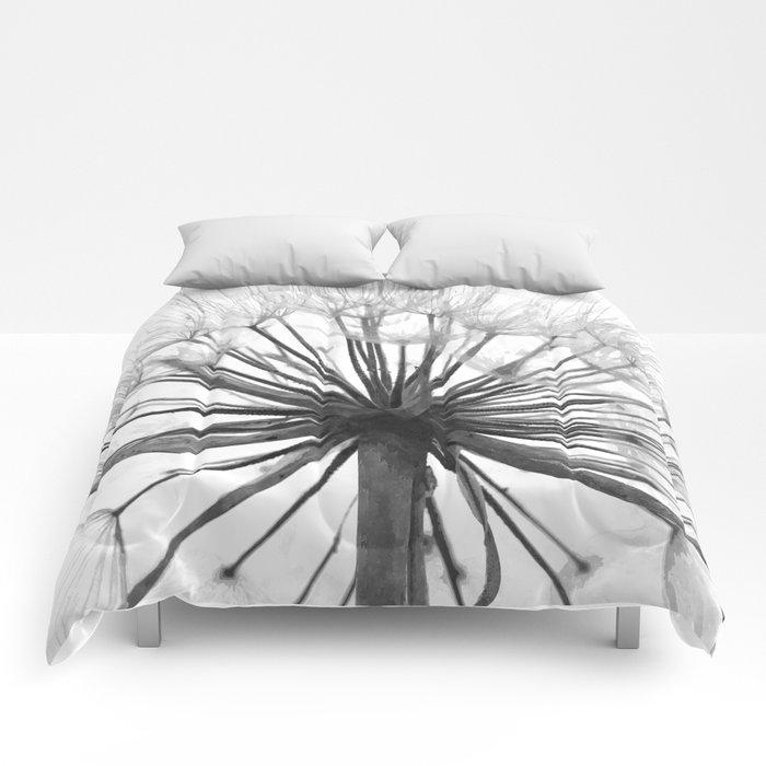 Black and White Dandelion Comforters