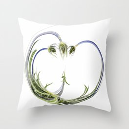 Warped Milk Thistle Throw Pillow