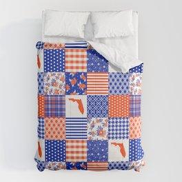 Florida University gators swamp life varsity team spirit college football quilted pattern gifts Comforters