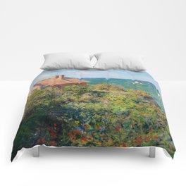 Fisherman's Cottage on the Cliffs at Varengeville Claude Monet Comforters