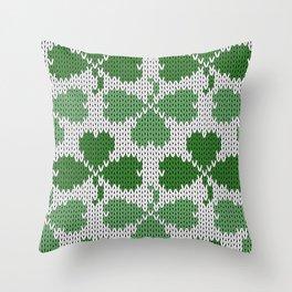 Shamrock pattern St Patrick Throw Pillow