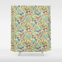 sunglasses Shower Curtains featuring Sunglasses by Laura Barnes