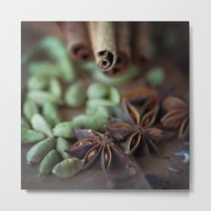 Chai Spices Metal Print