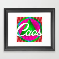 caos Framed Art Print