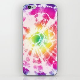 Tie-Dye Sunburst Rainbow iPhone Skin