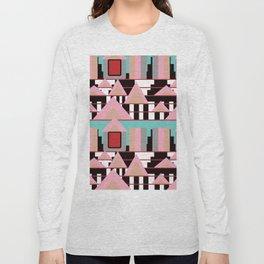 Postmodern City Skyline Long Sleeve T-shirt